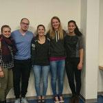 Die Leichtathletikleiter - Fabienne Schneider, Florian Übersax, Flavia Schaub, Maya Grieder und Sarina Walmer
