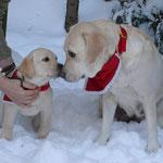 Emmi und ihre Tochter Rose - Weihnachten 2010