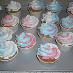 Cup Cake blau/rosa/weiss