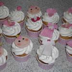Cup Cake mit Babygesicht