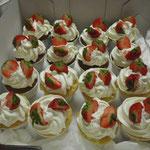 Cup Cake mit Erdbeer