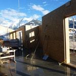 Montage Elemente Dachgeschoss Dezember 2014.