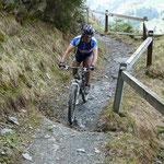 Biken auf Singletrails