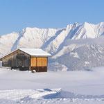 Skigebiet mit Aussicht auf Signinagruppe