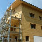 Holzfassade Süd- und Ostseite.