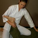 Knietechnik am Bein