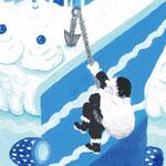 Blue Christmas2 2010 ボードにアクリル絵具 148x100