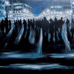 オペラ座の前で 2016 キャンバスにアクリル絵具 500x606