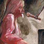 SMOKERS #50 2010 紙にアクリル絵具 125x90