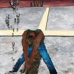 CROSS ROADS_開拓者1 2010 紙にアクリル絵具 515x364