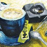 Coffee and Cigarettes 2012 紙にアクリル絵具 125x90