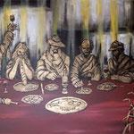 Beggars Vanquet キャンバスにアクリル絵具 410x606