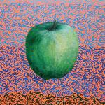 Apple 2012 キャンバスにアクリル絵具 410x242