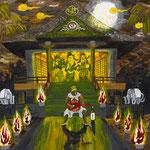 饗宴 2010 紙にアクリル絵具 364x515