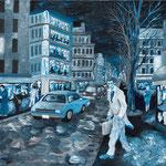 クリシー通り2 2010 紙にアクリル絵具 364x515