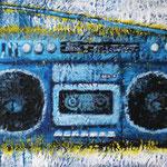 SAD BLUE RADIO 2011 キャンバスにアクリル絵具 190x333