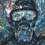 SAD BLUE MASK 2011 キャンバスにアクリル絵具 273x160