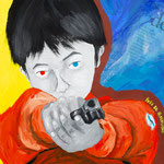 BOYS BE GUNVISIOUS_in your heart 2010 紙にアクリル絵具 364x515