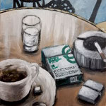 coffee&cigarettes 5 2018 キャンバスにアクリル絵具 333x220