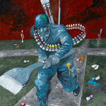 CROSS ROADS_paint army 2010 紙にアクリル絵具 515x364