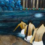 対岸へ 2010 紙にアクリル絵具 364x515