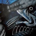FISH 2017 キャンバスにアクリル絵具 606x727
