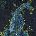 SAD BLUE CARP 2011 キャンバスにアクリル絵具 410x242