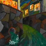 川 2010 紙にアクリル絵具 420x297