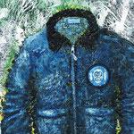 SAD BLUE JACKET 2011 キャンバスにアクリル絵具 273x160