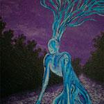 跪(き)2011 キャンバスにアクリル絵具 530x410