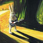 Rabbit Fire 2010 ボードにアクリル絵具 257x364