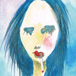 SMOKERS #1 2010 紙にアクリル絵具 125x90