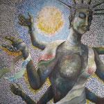 WHY 2012 キャンバスにアクリル絵具 1620x1303