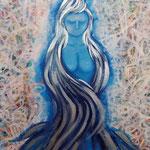 Sister Angel 2015 キャンバスにアクリル絵具 606x410
