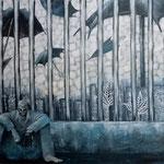 独房 2014 キャンバスにアクリル絵具 1167x910