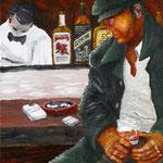 酒場の男 2010 紙にアクリル絵具 515x364