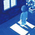 Blue Christmas4 2010 ボードにアクリル絵具 148x100