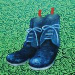 BOOTS 2012 キャンバスにアクリル絵具 410x242