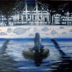 Blue Memaid 2016 キャンバスにアクリル絵具 500x606