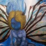 Devil 2015 キャンバスにアクリル絵具 803x652