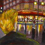 クリシー通り1 2010 紙にアクリル絵具 364x515