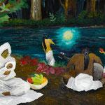 月夜 2010 紙にアクリル絵具 364x515
