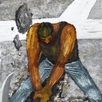 CROSS ROADS_開拓者2 2010 紙にアクリル絵具 515x364