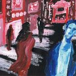 チャイナタウン 2010 紙にアクリル絵具 160x218
