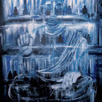 BUDDA in Blue 2017 キャンバスにアクリル絵具 652x530