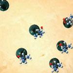 Pro-Argin Moleküle schließen die Öffnungen der Reizleiterkanälchen