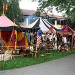 """Unser Zelt bei den """"Arenbachern"""""""