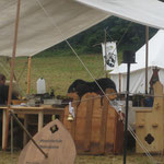 Das Lager der Uwejaner mit dem Wappen derer von Leutrum