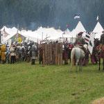 Vor Beginn der Schlacht um die Burg Ehrenberg