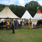 """Lager der """"Freyen Rittersleut zu Randingen"""" (rechts)"""